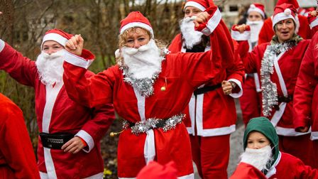 Santas on the Run at RHS Garden Rosemoor for Children's Hospice South West. Picture: Tim Lamerton
