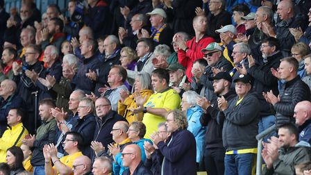 How things were - fans at Plainmoor in October 2019. Photo: Phil Mingo/PPAUK