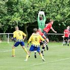 Action from the Honiton Town 2-1 home win over Holsworthy on the opening day of the 2020/21 South We