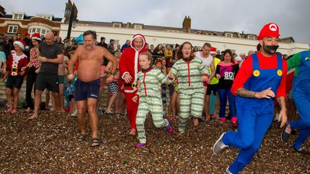 Sidmouth Boxing Day swim 2018. Ref shs 52 18TI 7524. Picture: Terry Ife