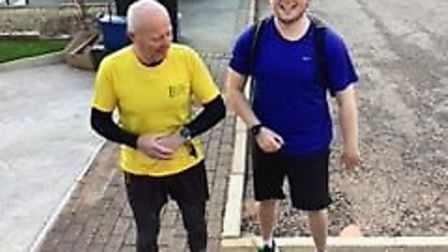 Grandad and Grandson Duo Complete Exe Estuary Virtual Half Marathon