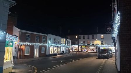 Ottery St Mary's Christmas Lights 2020. Picture:Vicky Johns
