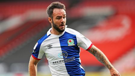 Blackburn Rovers' Adam Armstrong in action during the Sky Bet Championship match at The Vitality Sta