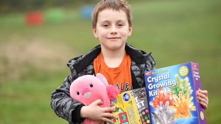 Henry Knights, from Queen's Hills in Costessey, who has donated money to a scheme to give families stockings.