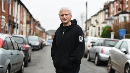 Andrew Laws in Rectory Road, Ipswich, where a parking permit scheme is proposed