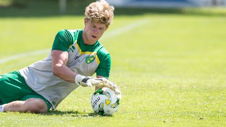 Ben Killip of Norwich City during training at Adeg Meisterfrost Arena, Burgenland, Austria.Picture