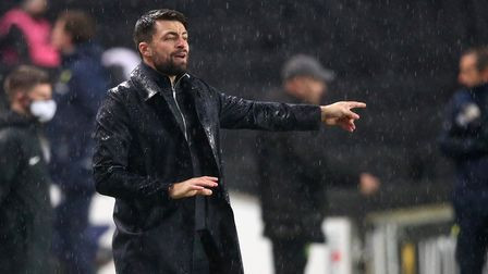 Milton Keynes Dons Manager Russell Martin during the Papa Johns Trophy match at Stadium MK, Milton K