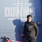At the start of lockdown Lewis delivered Dunns goodies on his bike to people isolating.