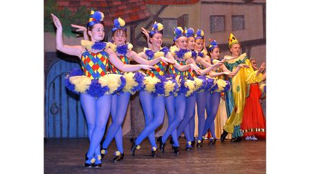 Dancers in the Co-op Juniors production of Snow White at Ipswich Regent in 2002