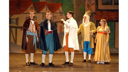 Members of the cast in the Co-op Juniors production of Snow White at Ipswich Regent in 2002