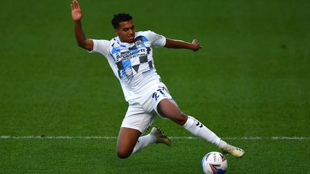 Coventry City's Sam McCallum during the Sky Bet Championship match at Adams Park, Wycombe.