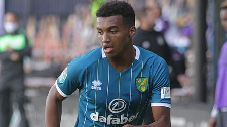 Sam McCallum played at Luton in the League Cup for Norwich but has now been loaned back to Coventry