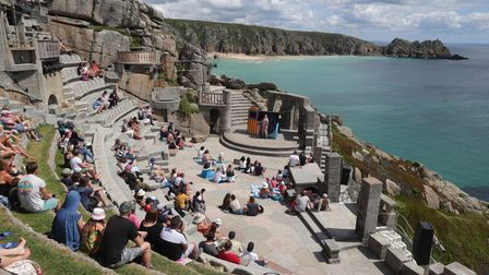 The Sea Show performance at the Minack Theatre in Porthcurno near Lands End.