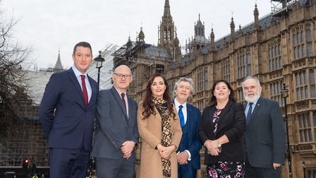 Recently elected Sinn F�in MPs (left to right) John Finucane, Paul Maskey, Orfhlaith Begley, Mickey