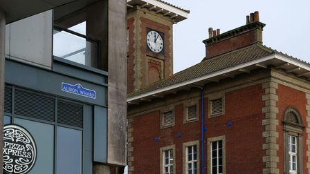 The new Albion Quay sign on Ipswich Waterfront.