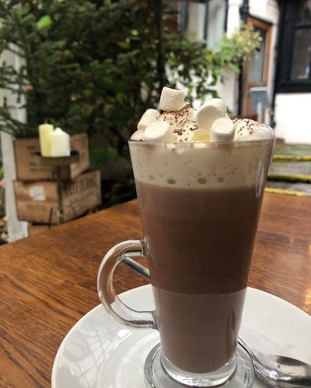 Warm up with a hot chocolate