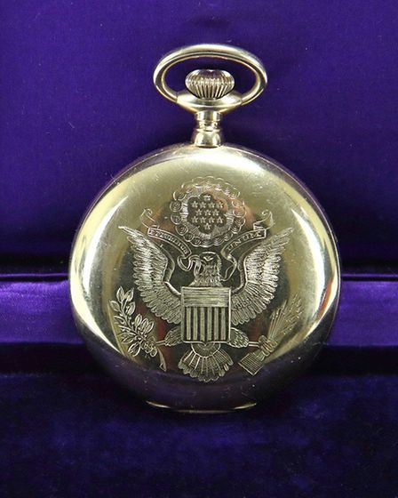 The pocket watch presented by former US President Woodrow Wilson, which was stolen from an antiques dealer in Islington