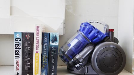 The new DC26 Dyson City vacuum, a powerful but compact cylinder designed for small spaces.