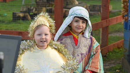 Reception pupils from Valley Primary Academy in Norwich rehearsing their nativity play.