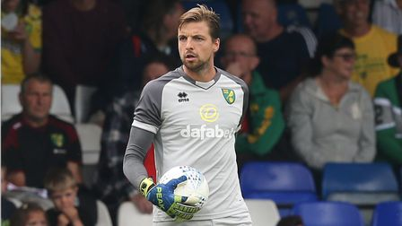 Tim Krul Norwich City keeper fitness Reading Championship game