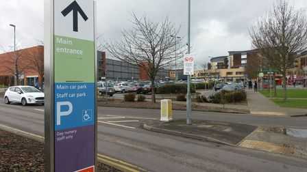 Vaccination hub opening at Queen's Hospital.
