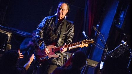 Dave Davies on stage with guitar