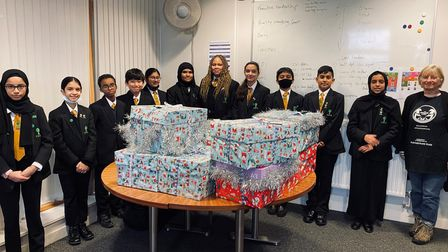 Forest Gate Community School with hampers