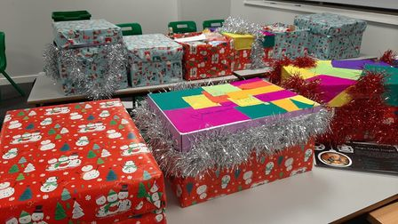 The hampers donated by Forest Gate school