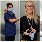 Central and North West London community nurses Luxmi Dhoonmoon, Lisa Basi, and Helen Willetts.