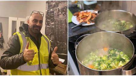 George Pornaris, 53, delivers his soup to the homeless around north London