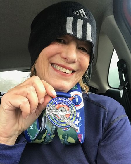 Ilford AC's Kim Baxter with medal