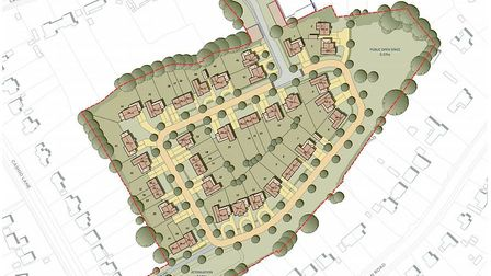 A map showing how the new development between Norton Road, Cashio Lane and Croft Lane in Letchworth might look. Picture...