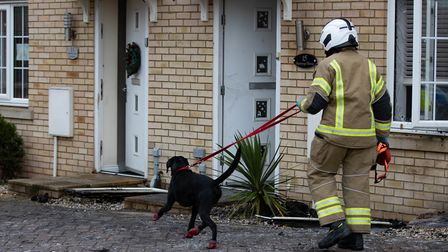 Serious house fire being investigated in Village,Buttercup Way, St NeotsThursday 10 December 2020.Picture by Terry...