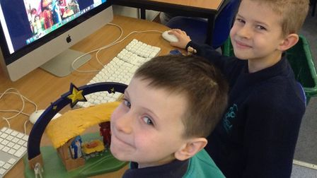 Year Three pupils at Crosshall School in Eaton Ford learned to animate.