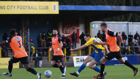 Mitchell Weiss in action for St Albans City. Picture: JIM STANDEN