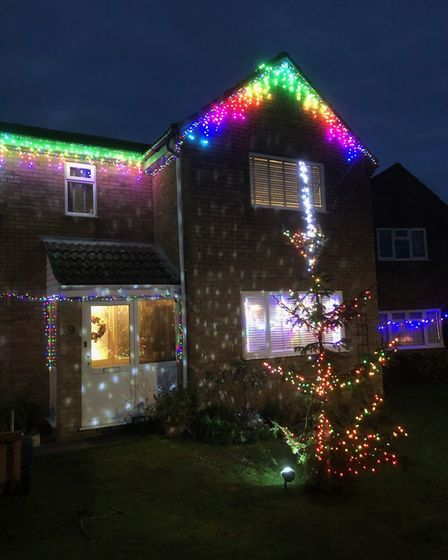Hannah Turner from Great Stukeley sent us this photo of her Christmas lights.