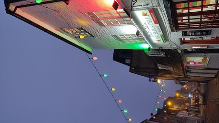 Lorna Watkins took this shot of Christmas lights in St Ives.