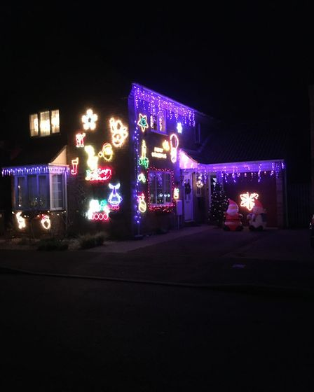 Ray Curtin took this photograph of his Christmas lights at Honeydon Avenue in Eaton Ford, St Neots.