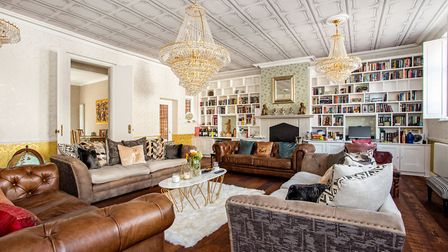 The drawing room measures 29ft 8in x 22ft 10in. Picture: Hamptons