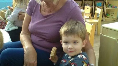 Lesley Matthews, who passed away at Stevenage's Lister Hospital earlier this year, is pictured here with her grandson Eddie. ...