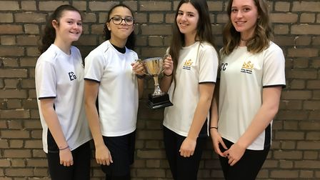 The Year 10 girls of King James Academy in Royston who were crowned district cross-country champions.
