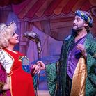 Matt Crosby as Dame Trott and Stephen Beckett as Count Covidula in Dame Trott's Panto Palaver at Cambridge Arts Theatre. Pict...