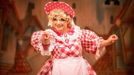 Matt Crosby as Dame Trott in Dame Trott's Panto Palaver at Cambridge Arts Theatre. Picture: Martin Bond, A Cambridge Diary