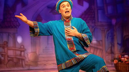Isaac Stanmore as Wishee-Washee in Dame Trott's Panto Palaver at Cambridge Arts Theatre. Picture: Martin Bond, A Cambridge...