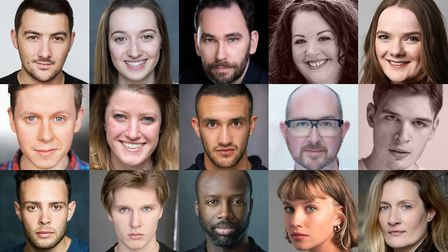 The cast of the Maltings Theatre's production of Peter Pan that will appear at The Alban Arena in St Albans this Christmas.
