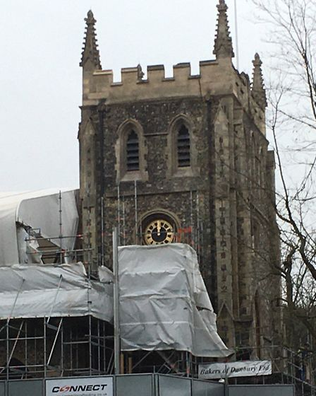 The church tower has now been uncovered. Picture: Phil Burchell