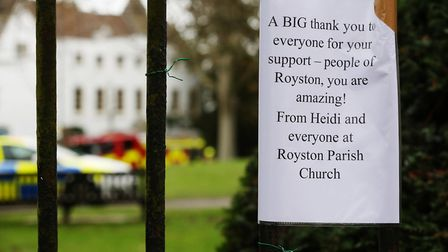 Rev Heidi Huntley's message to the community after the fire. Picture: DANNY LOO