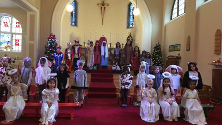 Reception, Year 1 and Year 2 pupils are St Francis' College in Letchworth performed their Navity play to bring Christmas...