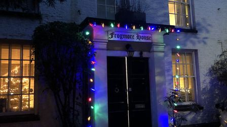 Cllr Chris Davies' Christmas decorations in St Albans. Picture: Cllr Chris Davies