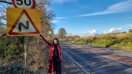 Cllr Annie Brewster is campaigning for safety measures on Redbourn Road. Picture: Supplied